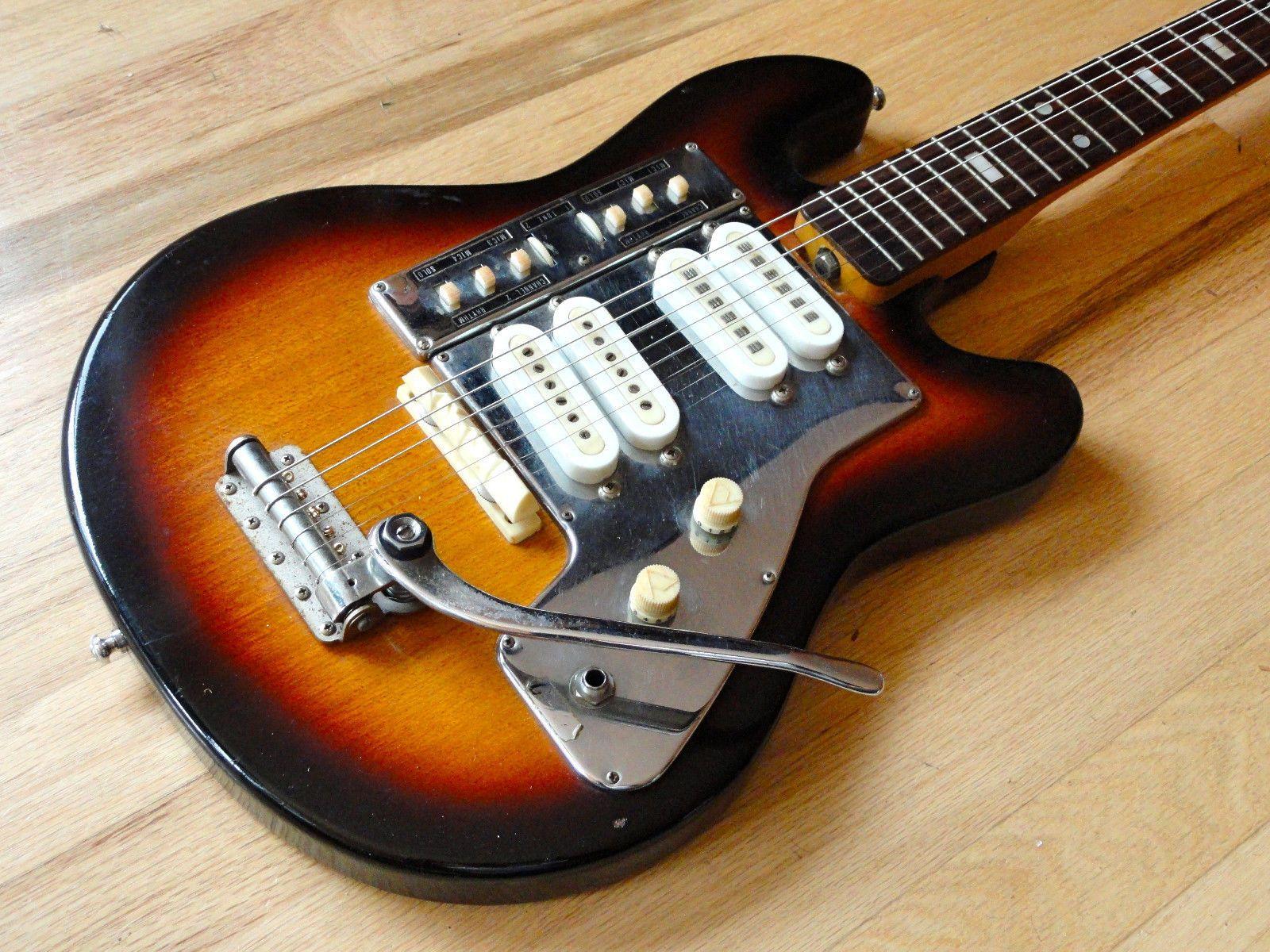 1960s guyatone lg 140t vintage electric guitar japan sunburst vintage classic 60s 70s exotic. Black Bedroom Furniture Sets. Home Design Ideas