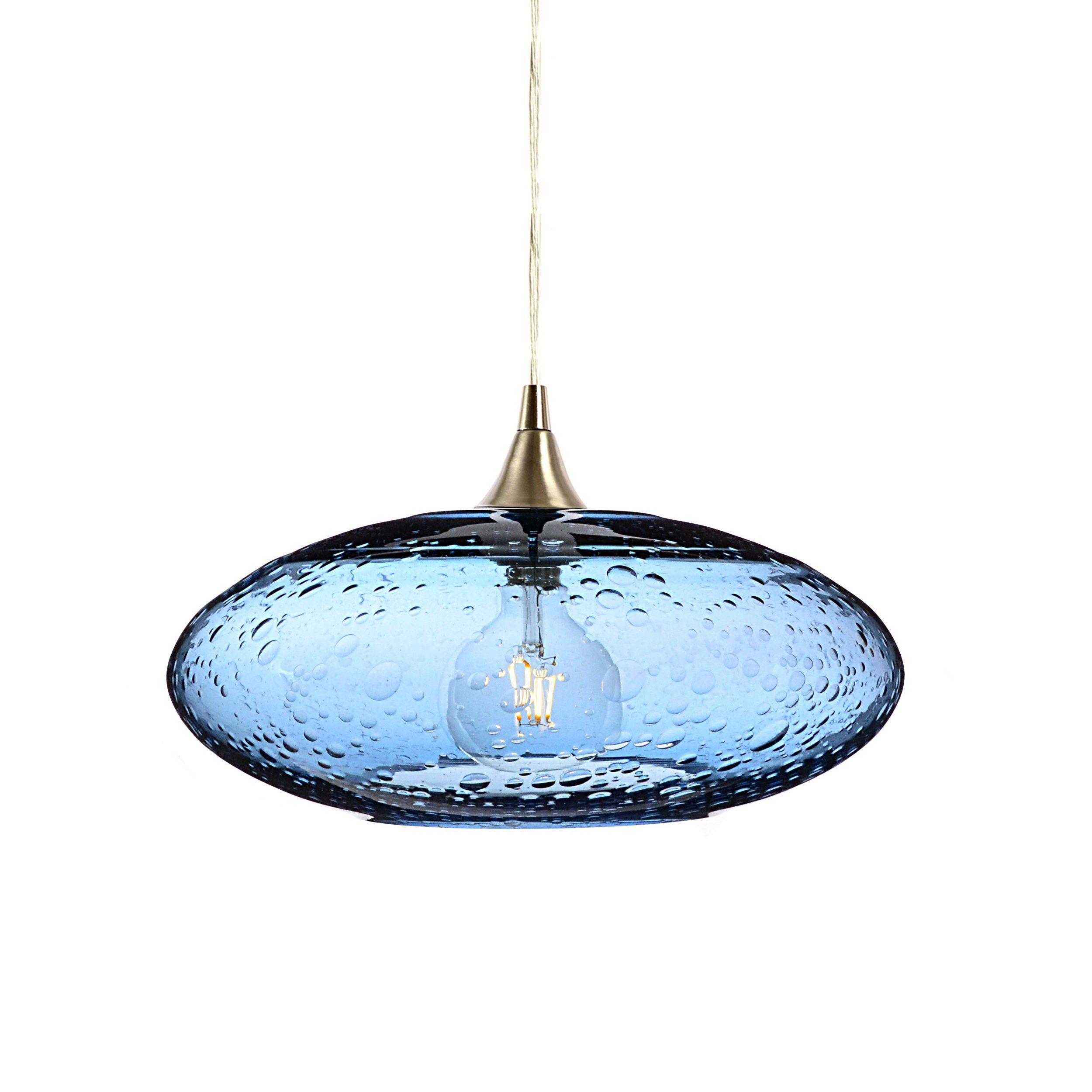 bicycle blue steel form lucent single pendant light products glass no co bn