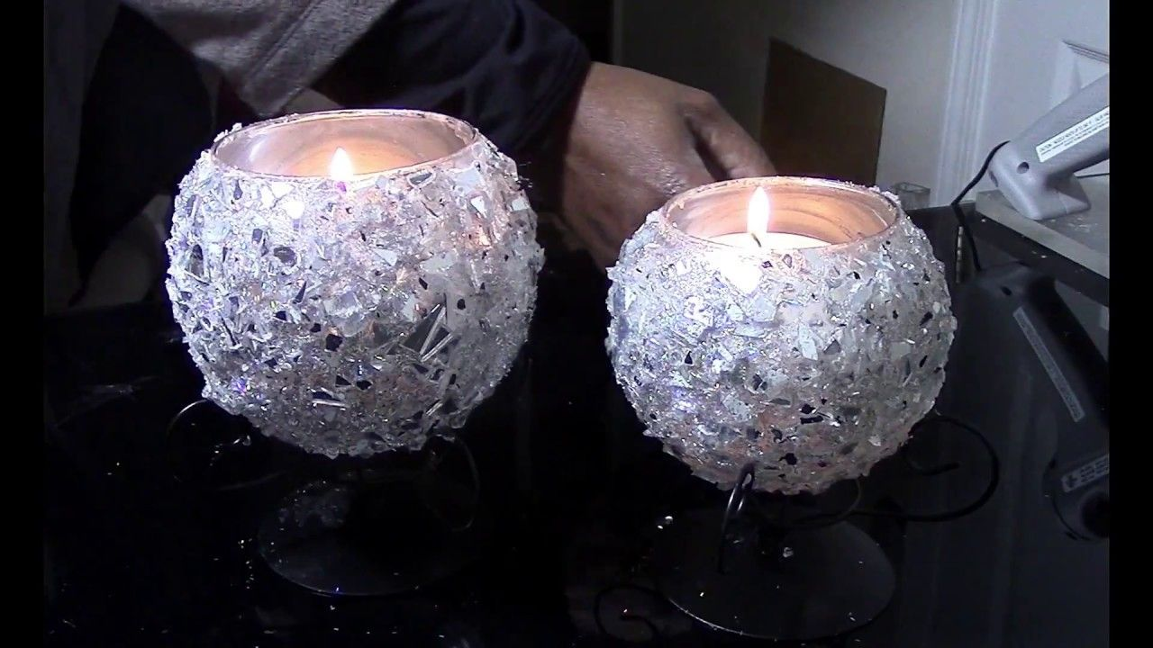 Dollar tree diy glamorous mirror effect mirrored candle holders