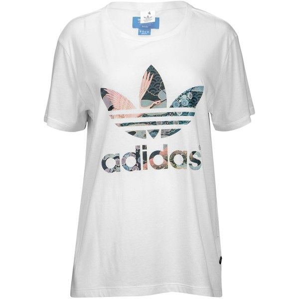 5ddf641a6d1 adidas Originals Rita Ora Geisha Free Back T-Shirt - Women's - Casual...  (2,305 PHP) ❤ liked on Polyvore featuring tops, t-shirts, colorful tops, white  t ...