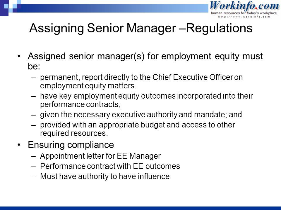 Employment Equity Sue Krantz Ppt Download Letter Sample Manager