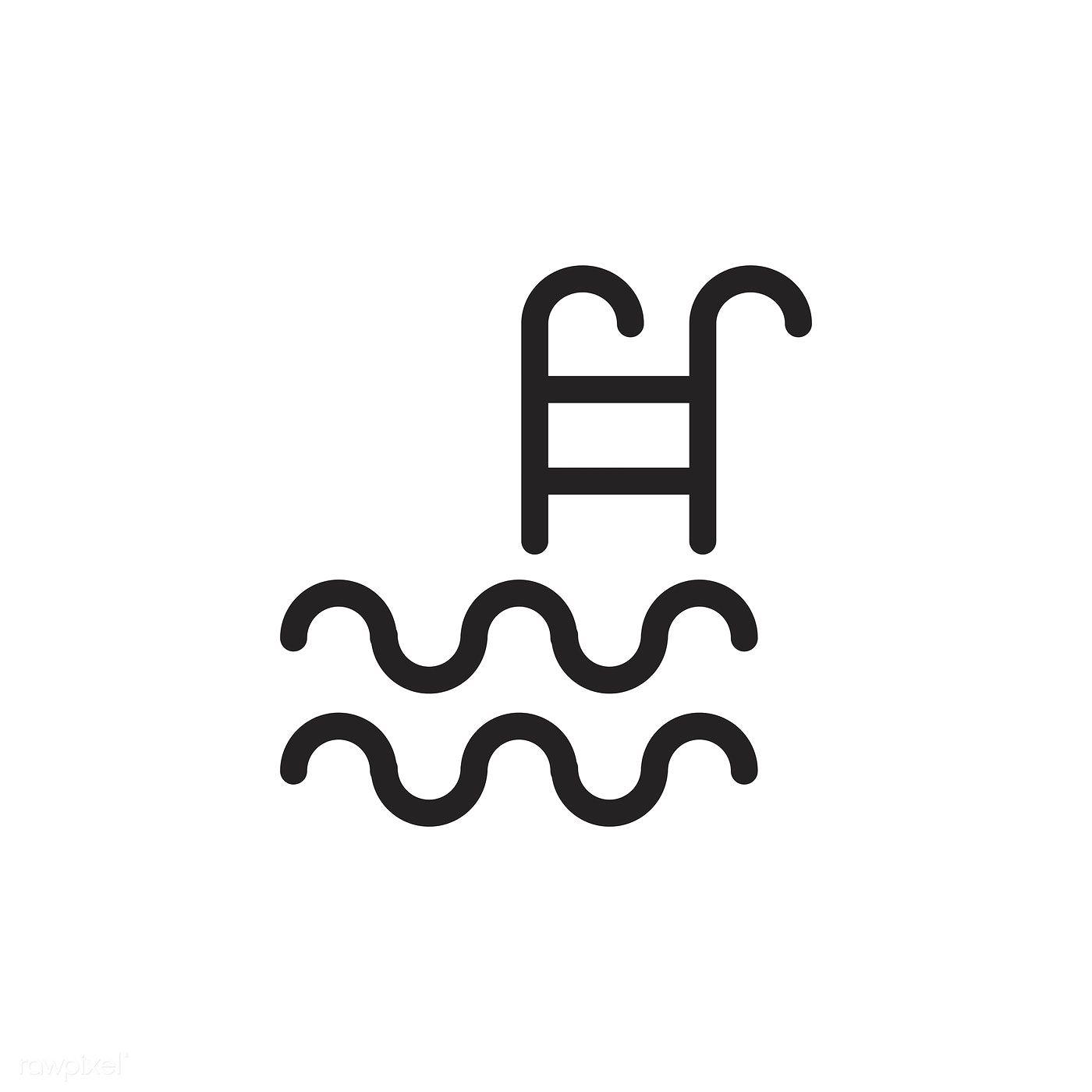 Download Premium Vector Of Swimming Pool Icon Vector 533493 Icon Swimming Swimming Pools