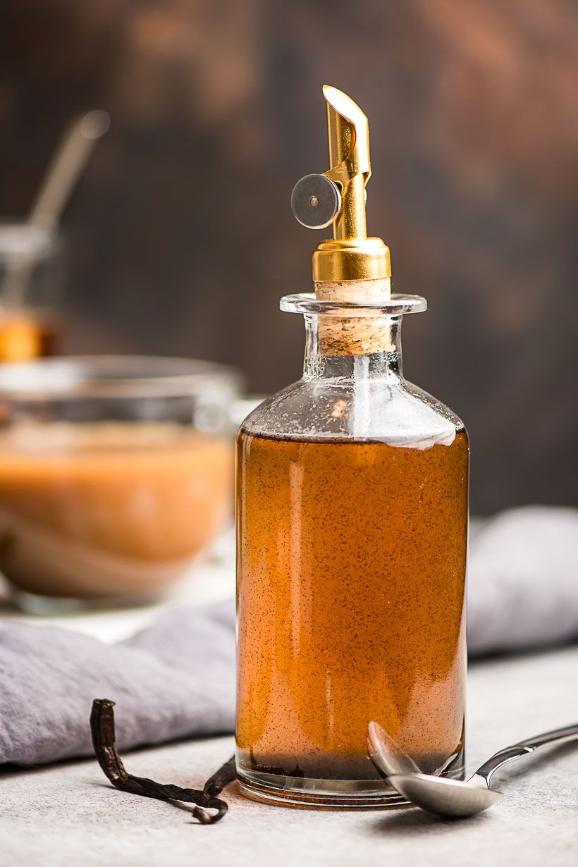 Homemade vanilla syrup is so easy to make and adds the