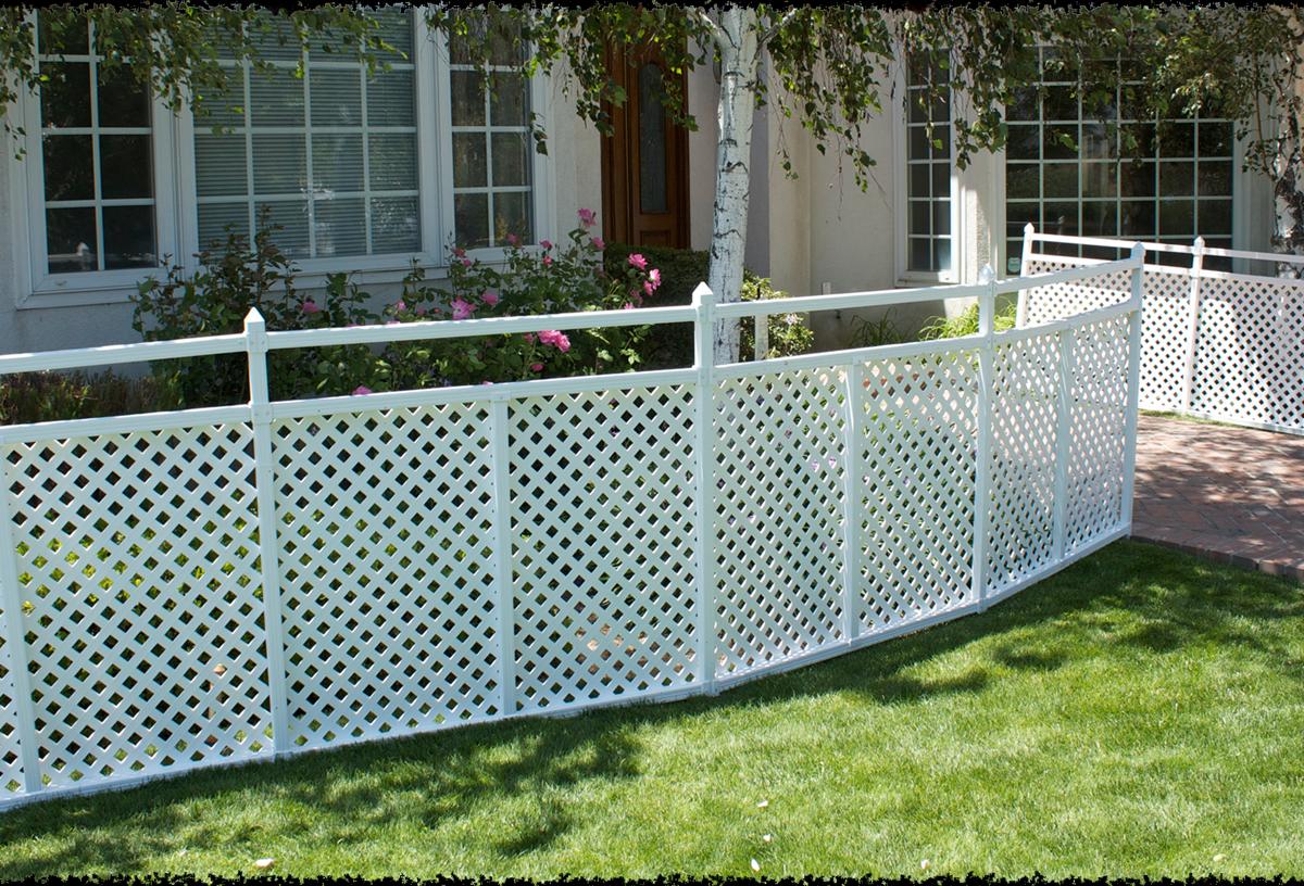 3' x 4' Extension Kit Lattice Ready Lattice fence