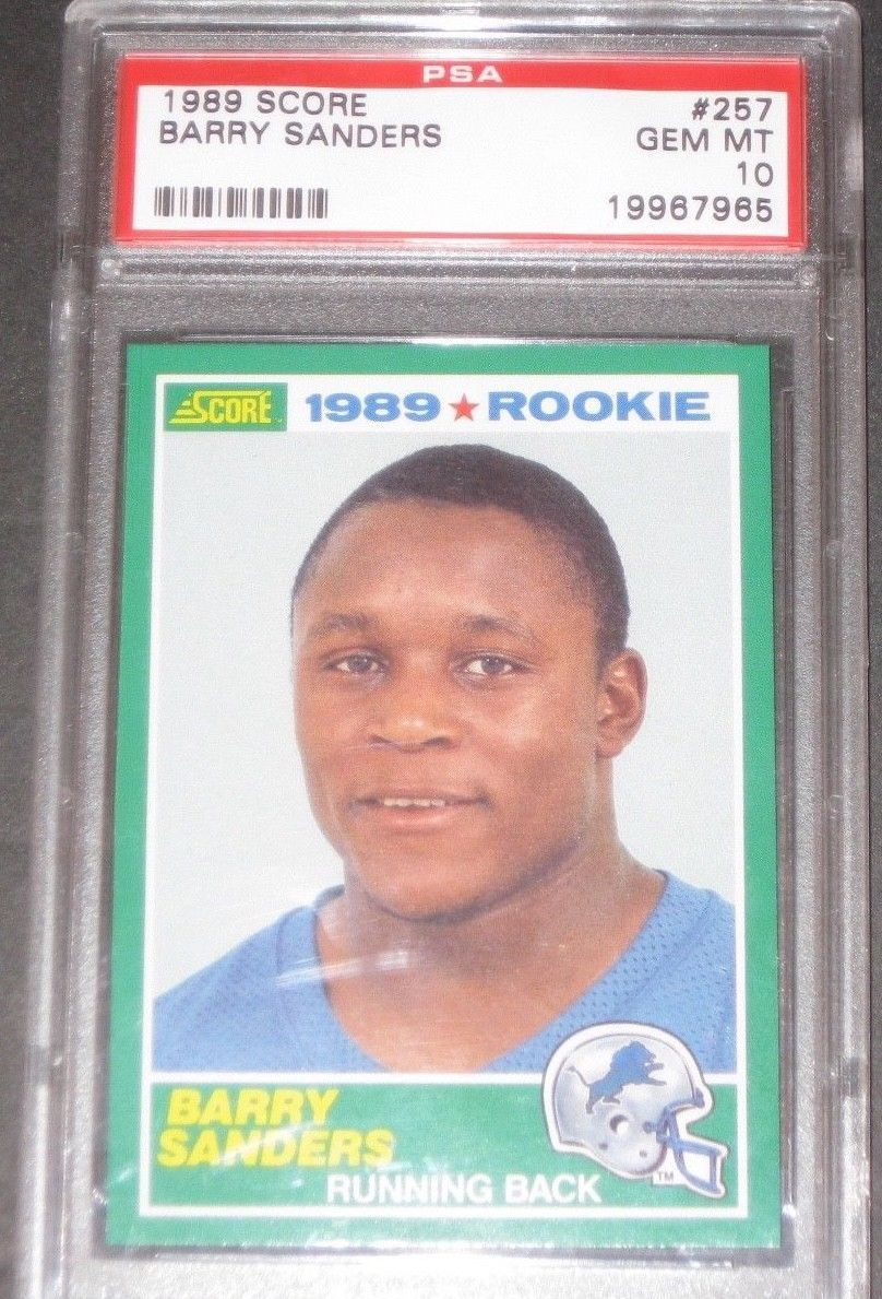 Psa 10 Gem Mint 1989 Score Barry Sanders Rookie Football