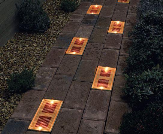 Solar Brick Lights Garden Shed Lighting Ideas Backyard Lighting Solar Powered Outdoor Lights