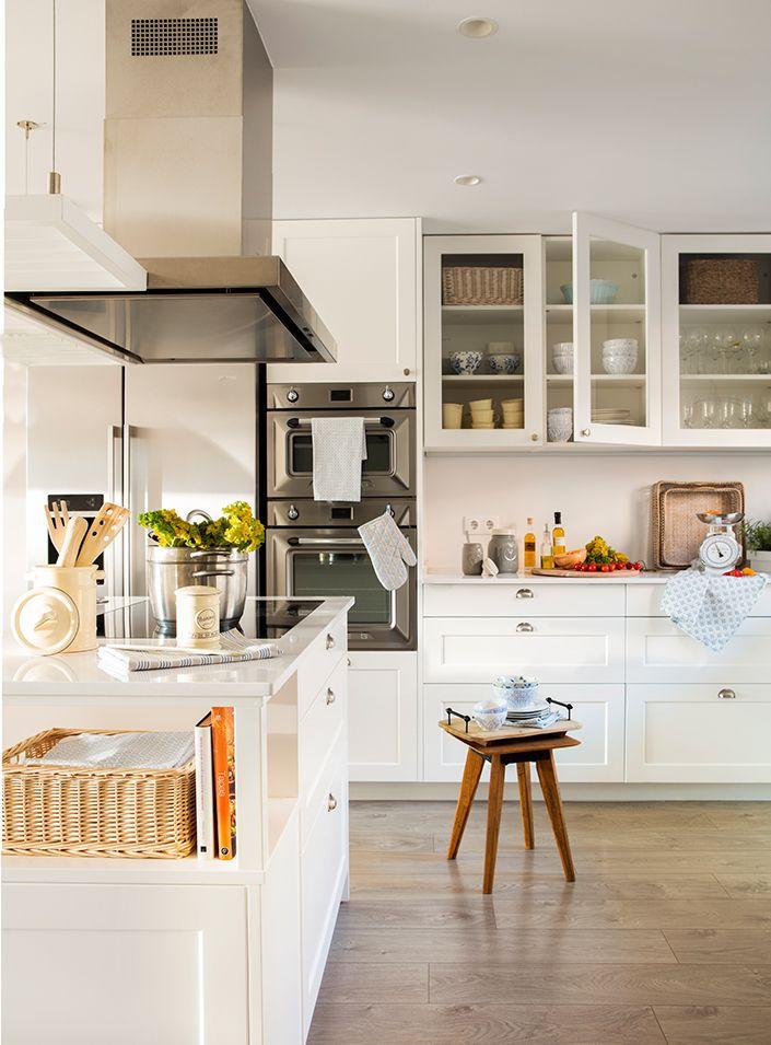 cocina blanca 00452184 O Pinterest Cocinas blancas, Cocinas y