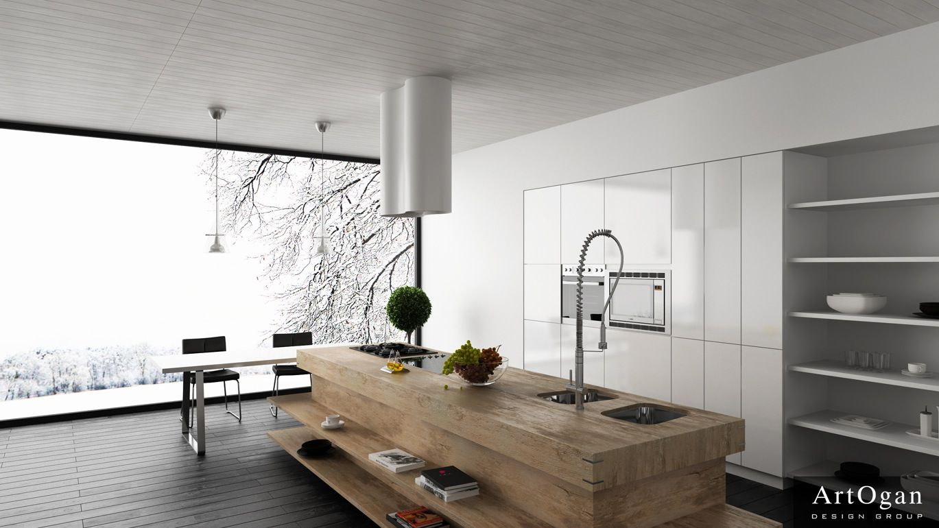 White Modern Kitchen Kitchens That Dont Look Like Kitchens Google Search Projects