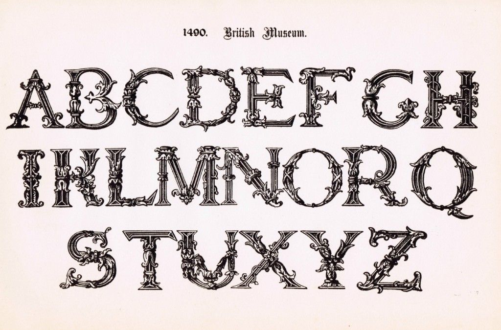 photo relating to Printable Fonts referred to as Antique Alphabet Printable Ornate Font Free of charge Printable