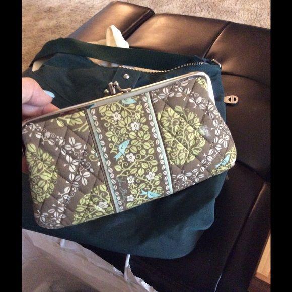 Vera Bradley kiss lock wallet Sitting in a tree pattern. Wallet clutch. Vera Bradley Bags Wallets