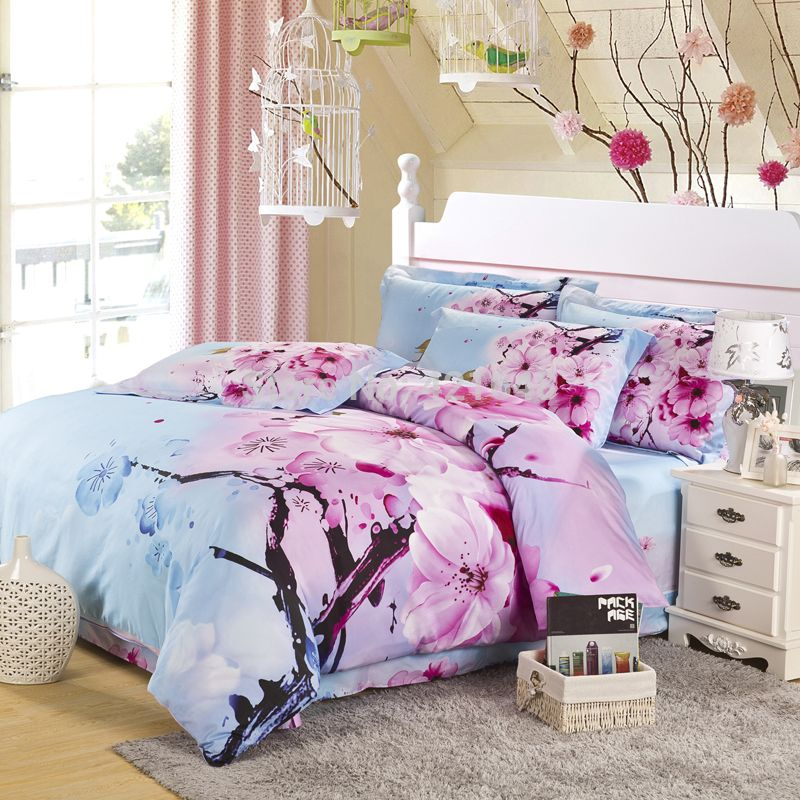 cherry blossom Designer bed sheets