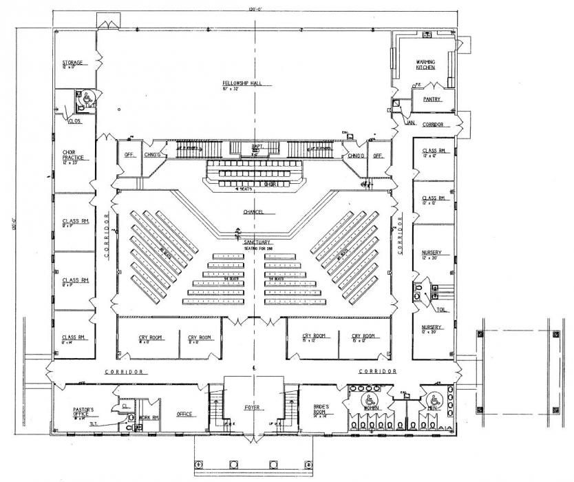 Church plan 152 lth steel structures lifechurch new for Metal building plans
