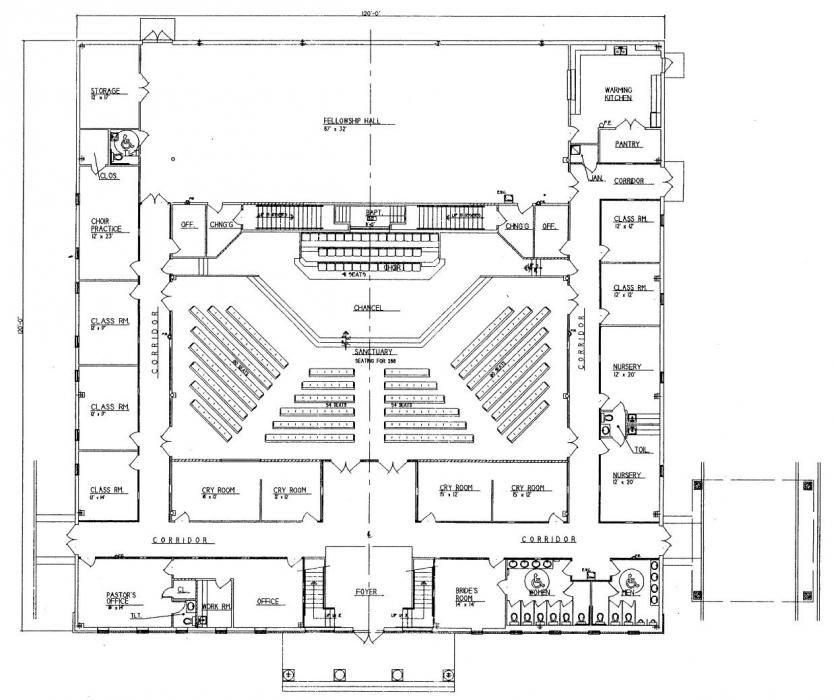 Church Plan 152 Lth Steel Structures Lifechurch New
