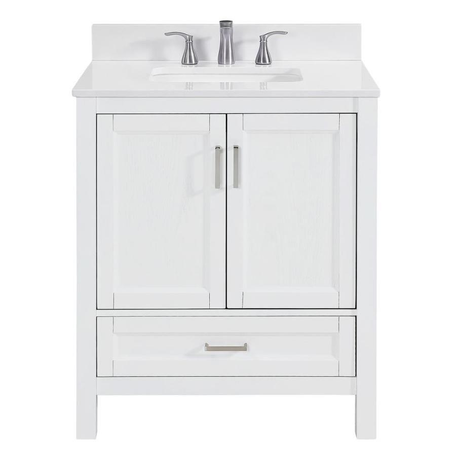 Scott Living Durham White Undermount Single Sink Bathroom Vanity