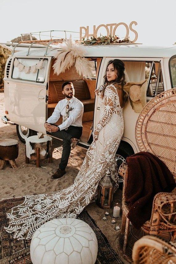 Bohemian Road Trip Elopement Ideas à Joshua Tree | Idées de mariage et de fête | 1 …