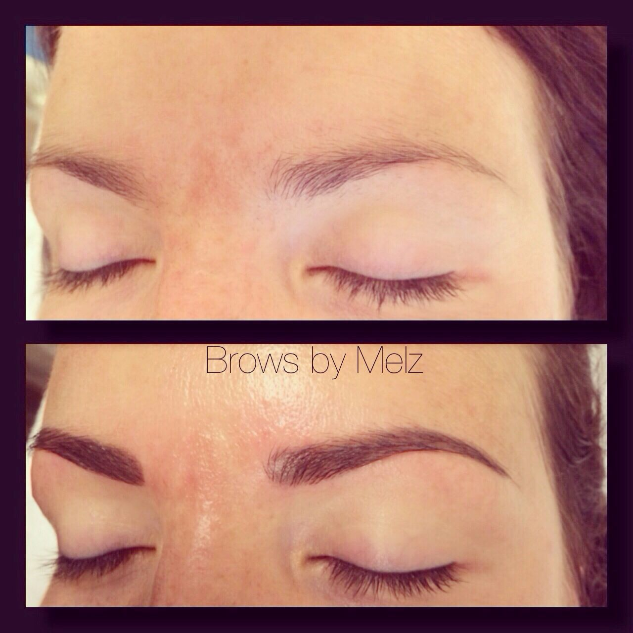 Henna Tattoo Eyebrows Cost: Brows By Melz *eyebrow* Cosmetic* Tattoo* Before And After