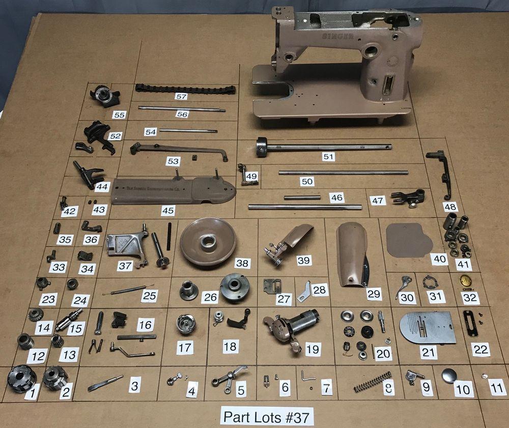 Singer 306w Sewing Machine Parts Lots Replacement Repair Manual Guide