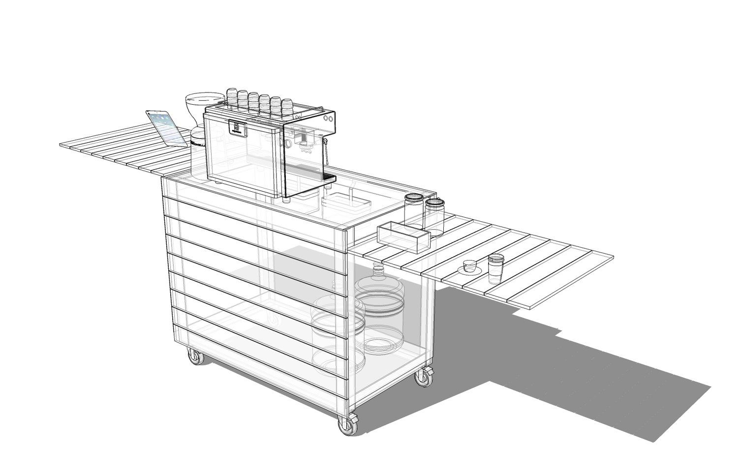 Coffee Cart Plans and Consultation | Coffee carts, Mobile ...