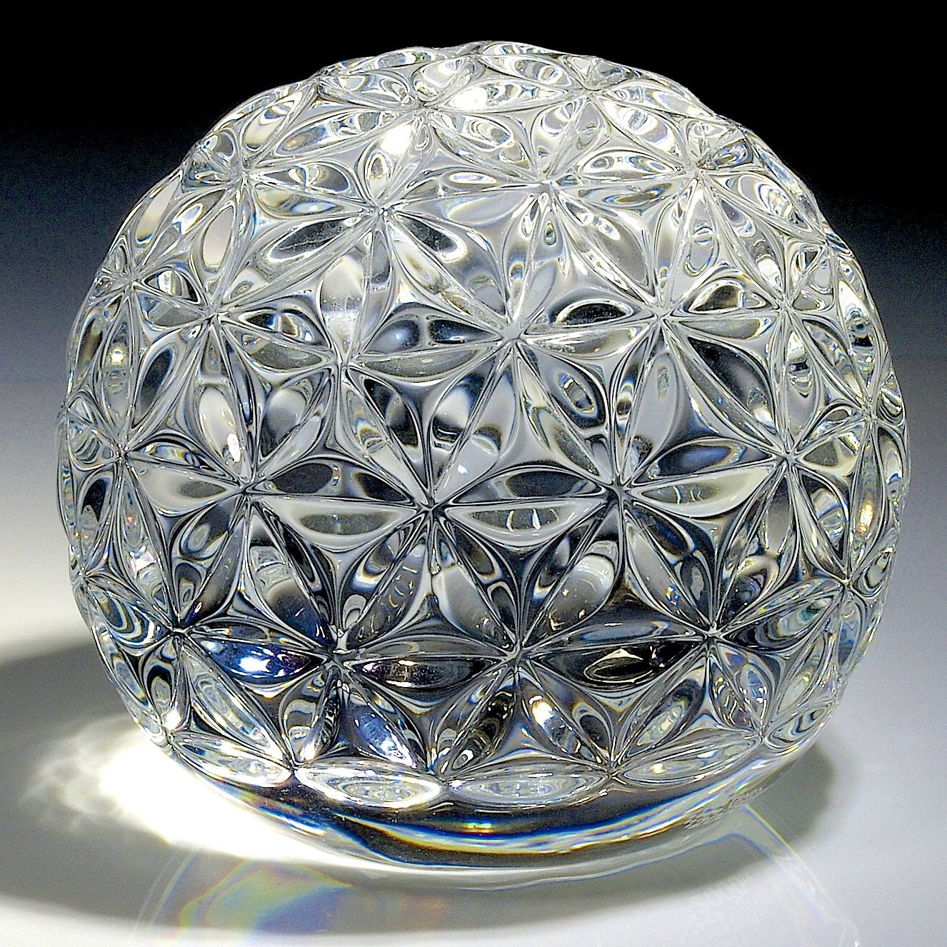 Waterford crystal paperweight millenium times square - Waterford crystal swimming pool times ...