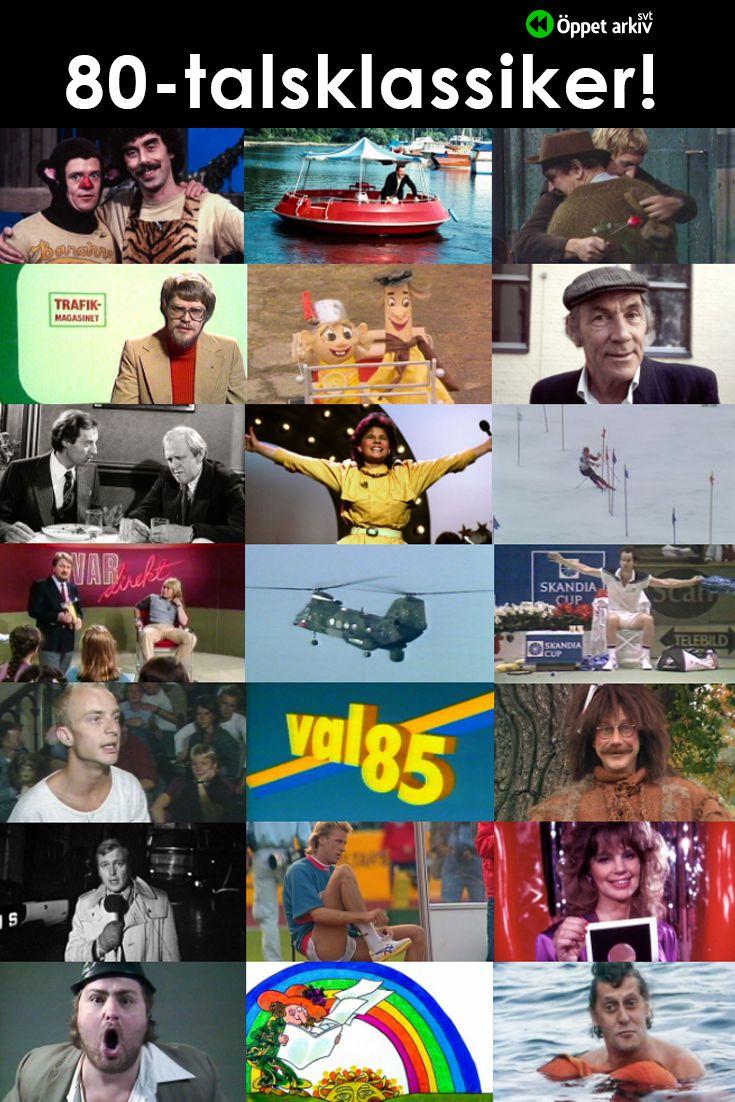 Öppet arkiv visar många 80talsklassiker i 2020 Tv