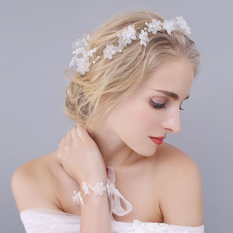 >> Click to Buy << Bride Handmade Crystal Pearl Head Flower Headdress Hair Accessories Wedding Wedding Styling Hair Accessories Hair Ribbon O935 #Affiliate