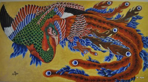 hokusai phoenix | Abe Paintings: Japanese Phoenix ...