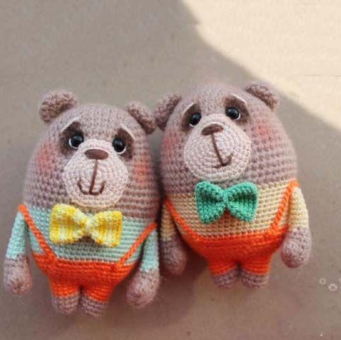 Bear Couple Love Cute Crochet I Like Free Amigurumi Crochet