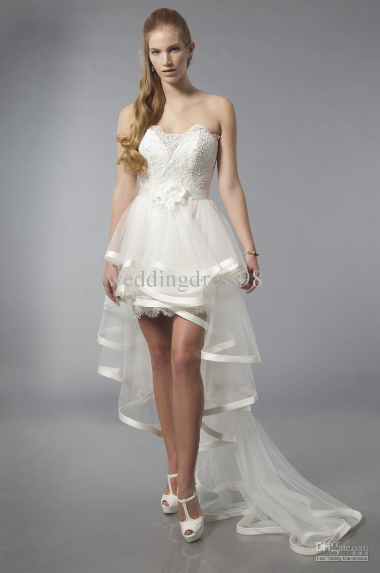 16 Short Dress With Train Ideas Wedding Dresses Short Wedding Dress Bridal Dresses