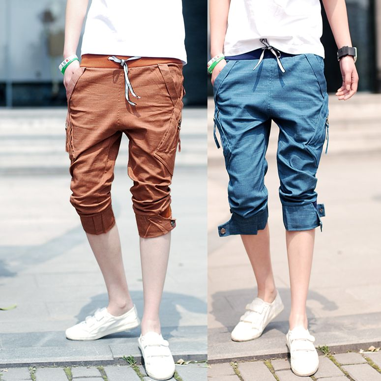 2013-summer-trend-slim-men-s-clothing-capris-100-cotton-spring ...