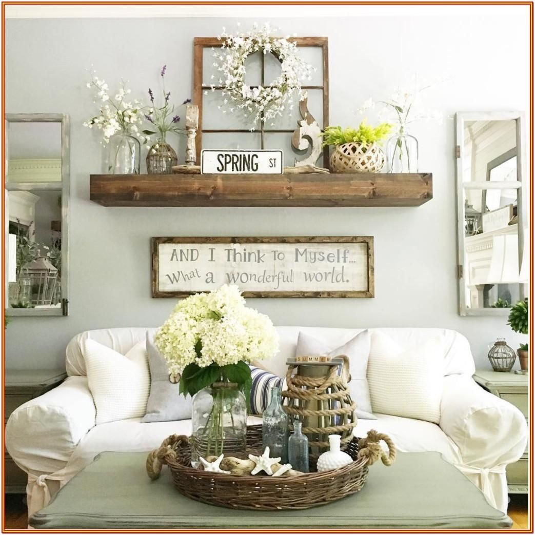 Living Room Large Wall Decor Ideas In 2020 Rustic Wall Decor Farmhouse Decor Living Room Farmhouse Wall Decor