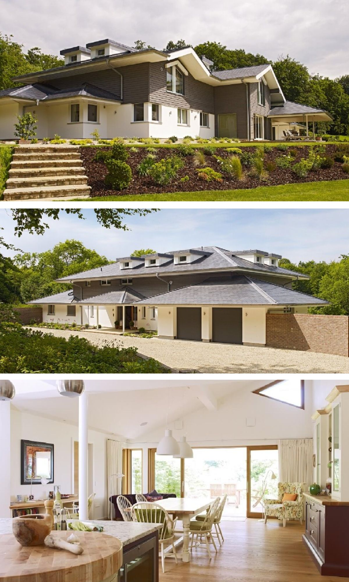 Moderne Landhaus-Architektur - Einfamilienhaus Hauck von Baufritz ...