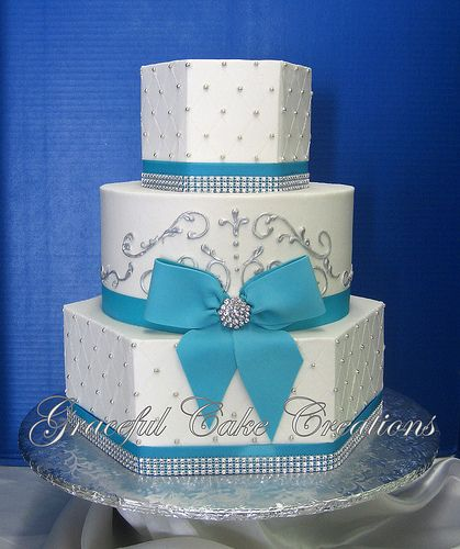 white wedding cake with silver ribbon white butter wedding cake with blue 27422