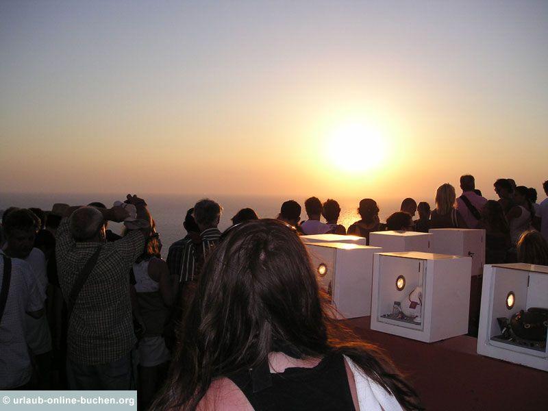 Sonnenuntergang in Oia, Santorin