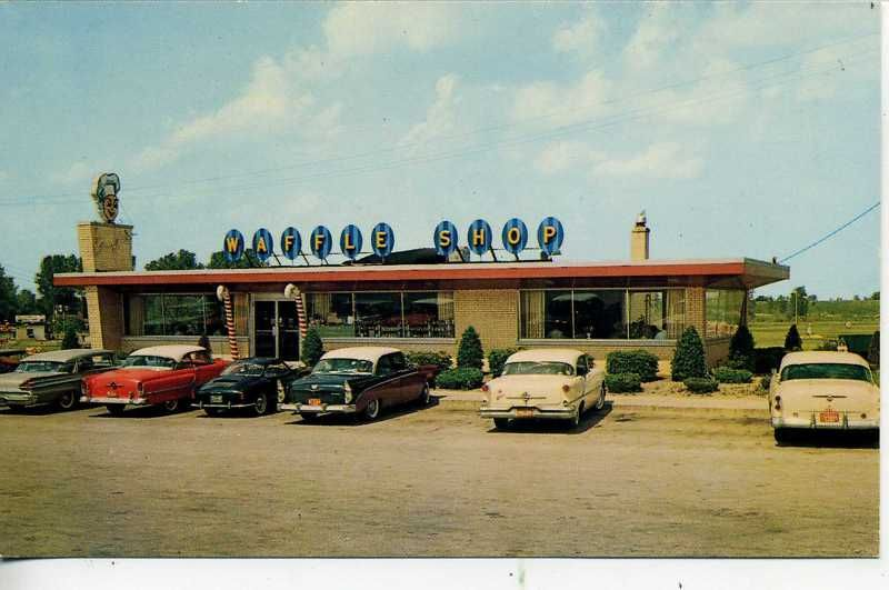 Image Detail For 1950 S Cars Schereville Indiana Sauzer Waffle House Ind Ebay 50s
