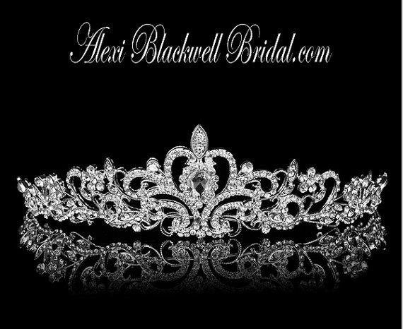 Bridal Tiara Crown headpiece stunning Rhinestone wedding hair accessories by AlexiBlackwellBridal, $69.00