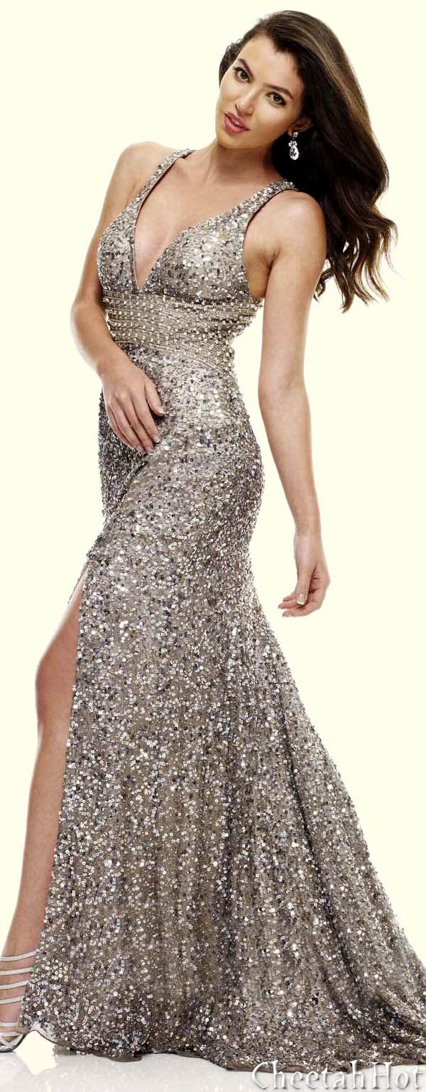 SCALA -Shimmering Silver Gown June 2013