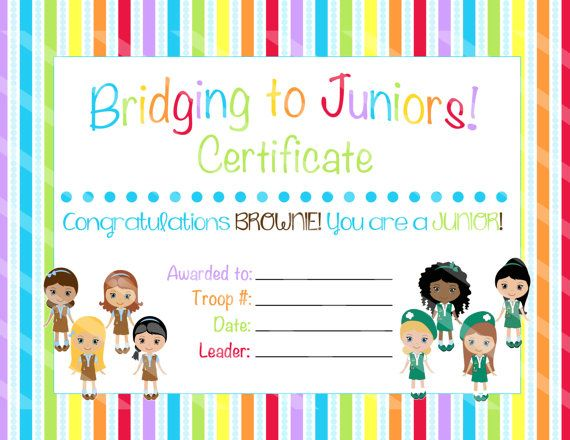 Girl Scout Cadette Bridging Certificate Editable Pdf Download Girlscouts Girl Scout Bridging Girl Scouts Girl Scout Badges