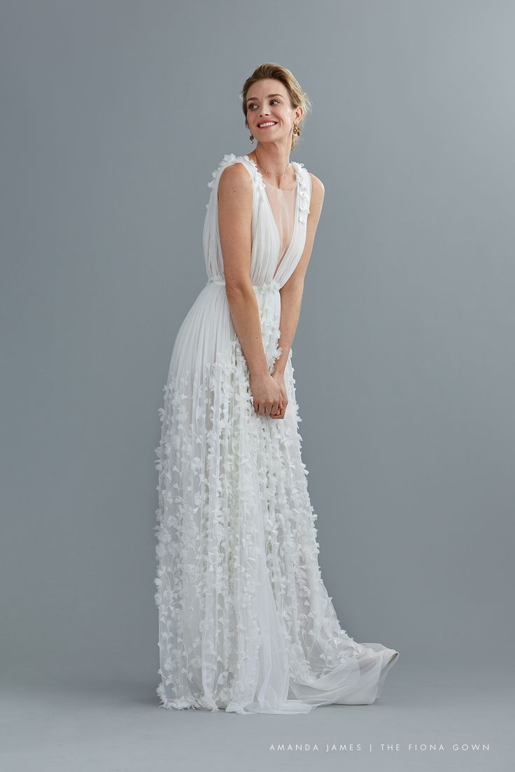 Magical wedding gown amandajamesbridal the fiona gown an ethereal