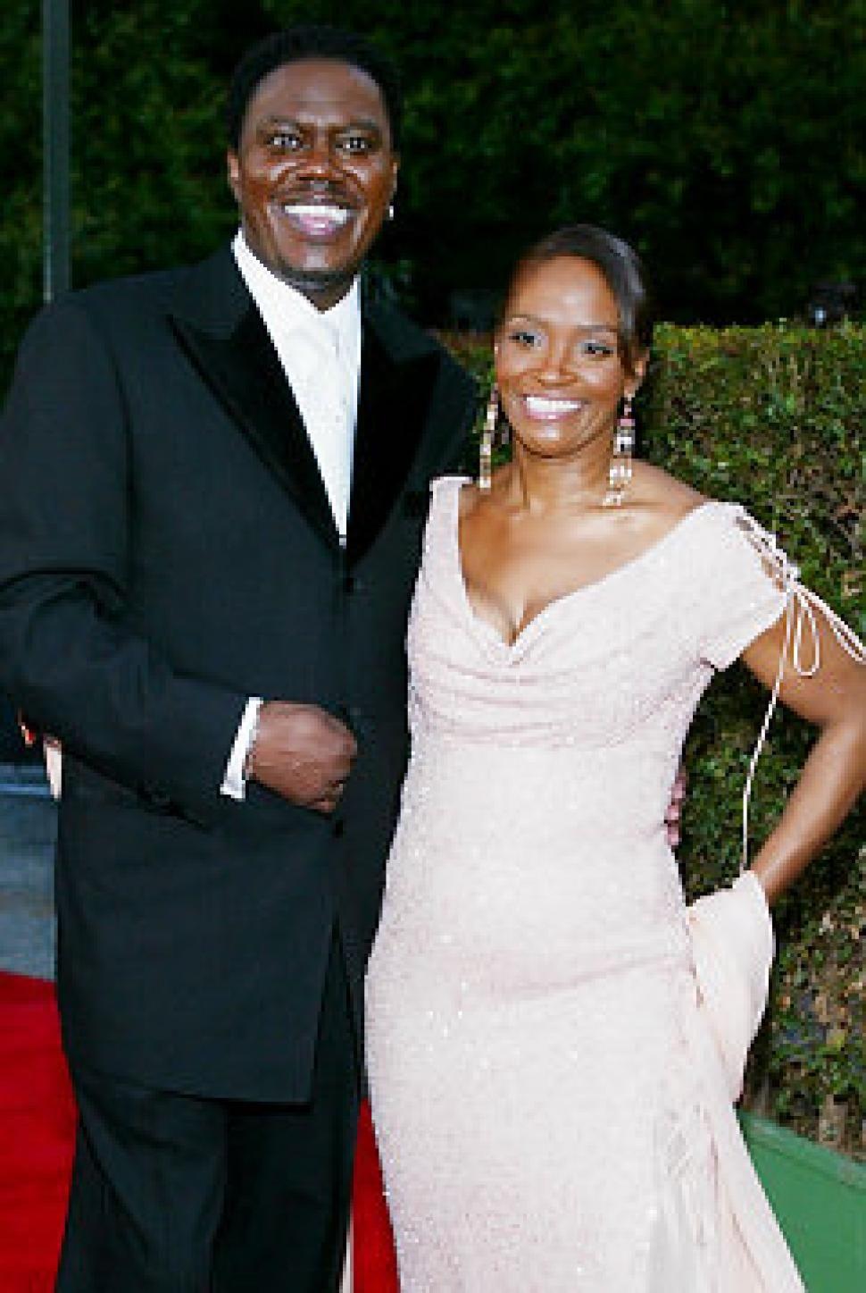 Bernie Mac And Daughter With Wife Rhonda In 2004