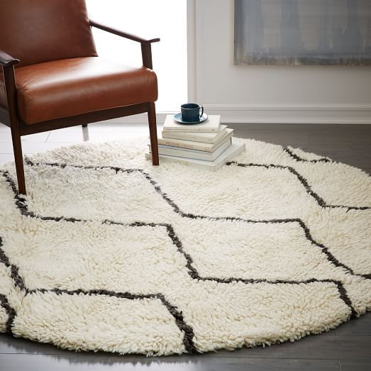 Souk Wool Rug 6 Round Ivory Round Rugs Floor Rugs Modern