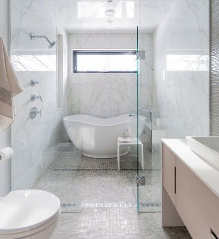 Top Bathroom Design Trends Using Freestanding Tubs Master Bathroom Shower Bathroom Tub Shower Combo Bathroom Tub Shower
