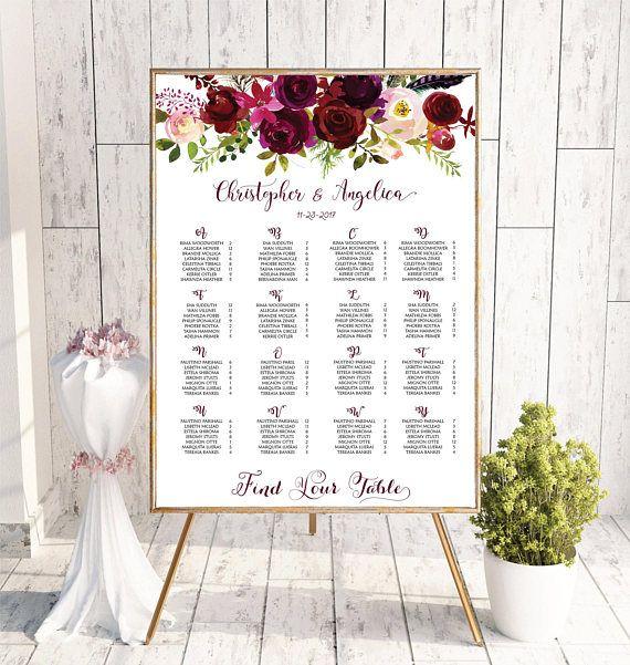 Wedding Guest List, Wedding Table Plan, Wedding Seating