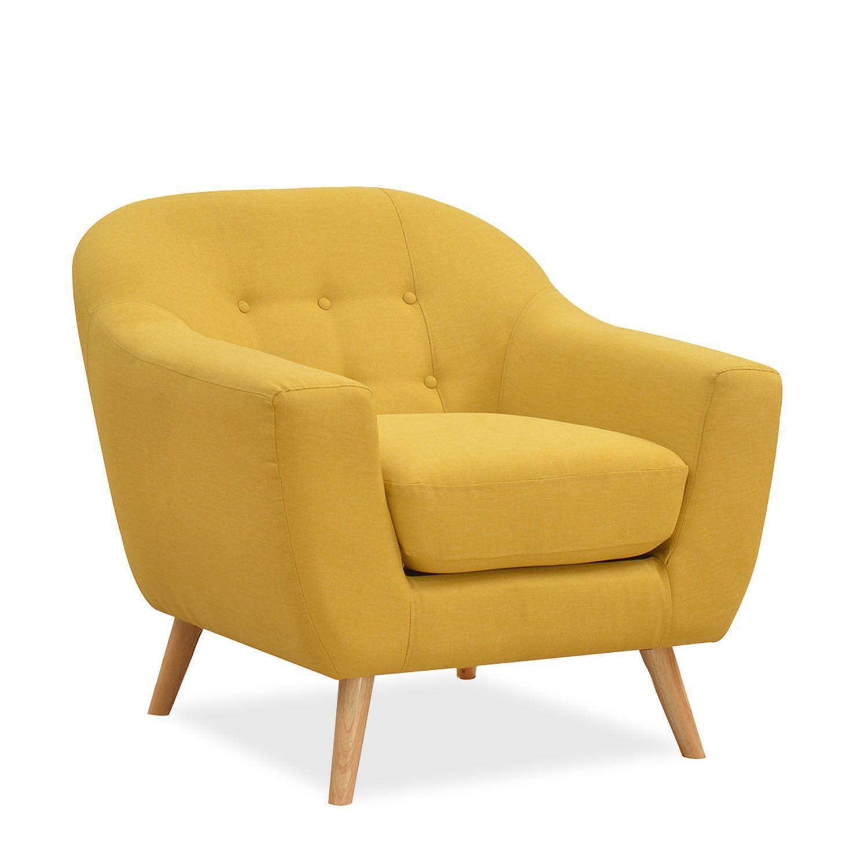 Sofa de una plaza tapizado en tejido resistente - Sofas individuales modernos ...