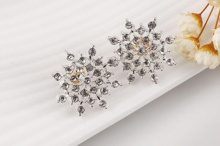 Crystal Stud Earrings Pair