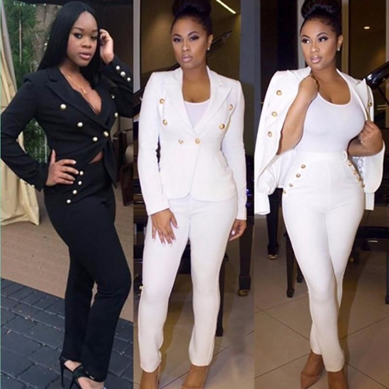496317fc1f7b Plus size black white 2 two piece set WOMEN long jumpsuit elegant sexy party  bodycon bandage