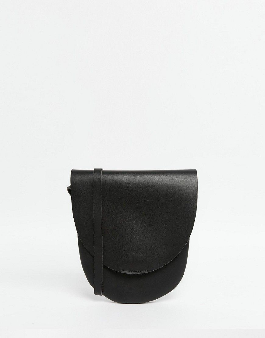 Image 1 of ASOS Leather Saddle Cross Body Bag