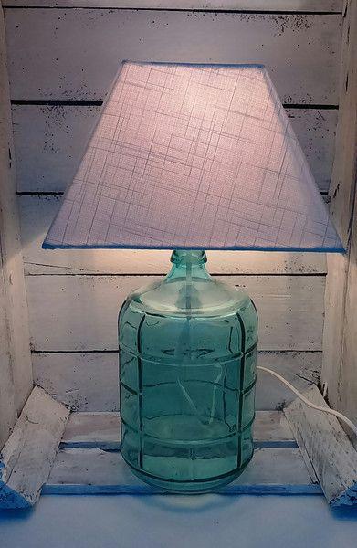 Tischlampe Mit Glasfuss In Turkis Lampe Tischlampen Lampentisch