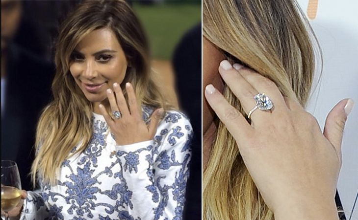 Kim Kardashian U0026 Kanye West, 15.0 Carats, Oval Cut, $8 Million, By · Wedding  Ring ...