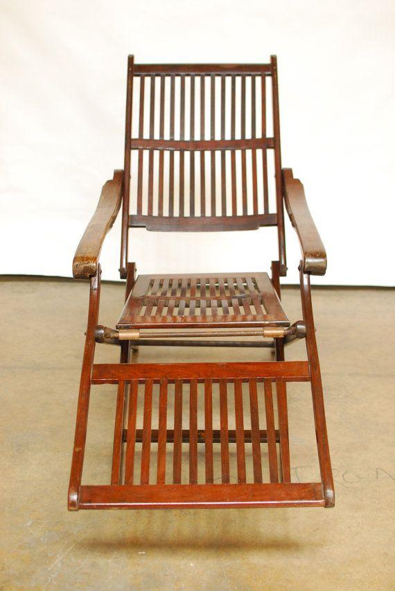 Antique Ocean Steamer Deck Chair By ErinLaneEstate On Etsy