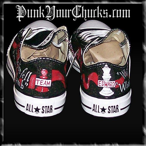 a425171e0aa4 Twilight Converse Low Tops All 4 Book Covers by punkyourchucks